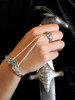Arabesque-Cascade Panja Bracelet - Silver