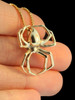 Large Spider Pendant - 14k Gold