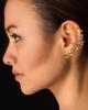 Rose Tendril Ear Cuff - Bronze
