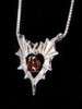 Phantom Heart Pendant with Mozambique Garnet