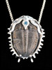 Trilobite with single stone (Blue Topaz)