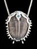 Trilobite with single stone (Blue Topaz)