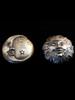 Sun and Moon Knobs - Bronze