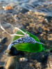 Sterling Silver Tribal Narwhale Charm and Sea Glass