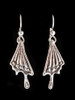 Butterfly Wing Earrings in Silver