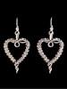Tentacle Heart Earrings in Silver