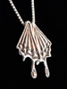 Butterfly Wing Charm Pendant in Silver