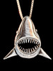 Jaws Shark Pendant in Silver