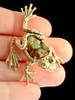 Harlequin Tree Frog Pendant in 18K Gold