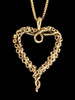 Tentacle Heart Pendant in 14K Gold