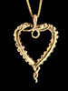 Tentacle Heart Pendant in 14K Gold