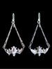 Flying Bat Earrings in Silver