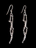 Circus Trapeze Earrings in Silver