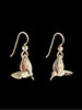 Small Hummingbird Earrings in 14K Gold