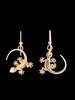 Gecko Earrings - 14K Gold