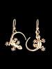 Gecko Earrings in 14K Gold