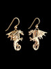 Fire Dragon Earrings in 14K Gold