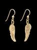 Guardian Angel Wing Earrings in 14K Gold