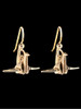 Peace Crane Earrings in 14K Gold
