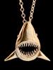 Jaws Shark Pendant in Bronze