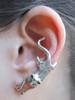 Cat Ear Cuff in Silver