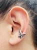Fuchsia Flower Ear Cuff - Silver