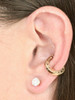 Lower Cartilage Cuff - Good Luck Horseshoe Ear Cuff - 14K