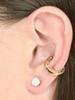 Lower Cartilage Cuff - Good Luck Horseshoe Ear Cuff - 14K