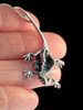Winged Bearded Dragon Pendant in Silver