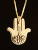 Eye of Protection Hamsa Hand in 14k Gold