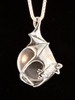 Night Flight Bat Orb in Silver