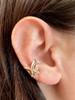 Fuchsia Flower Ear Cuff in 14K Gold