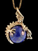Dragon Orb with Lapis Lazuli in 14K Gold