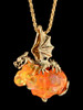 'Figment' Dragon Pendant with Mexican Fire Opal in 18K Gold