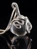 Octopus Pendant w/ Clear Quartz Orb in Silver