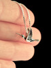Flitting Hummingbird Charm in Silver