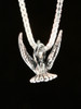 Flitting Hummingbird Charm in Silver