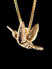 Flitting Hummingbird Charm in 14K Gold