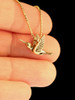 Flitting Hummingbird Charm in 14K Gold