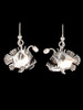 Angler Fish Earrings with Pearl Lures in Silver