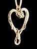 Viper Valentine Pendant in 14K Gold