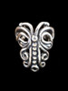 Butterfly Ear Cuff Chevron in Silver