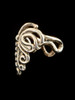 Butterfly Ear Cuff Chevron in Bronze