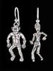 Zombie & Cyclops Earrings in Silver