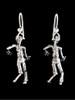 Zombie Earrings in Silver