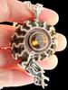 Timor Ammonite Nautilus Pendant with Citrine in Silver