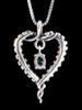 Tentacle Heart with Gemstone in Silver