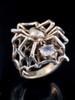 Large Spider Ring with Gemstone