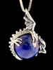 Dragon Orb Pendant with Lapis in Silver