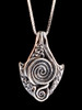 Spiral Galaxy Pendant in Silver